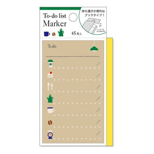 cute food drink note pad to do list marker from japan memo pads