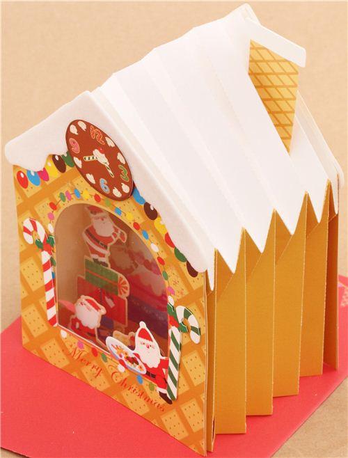 cute ginger bread house bakery christmas letter 3d pop