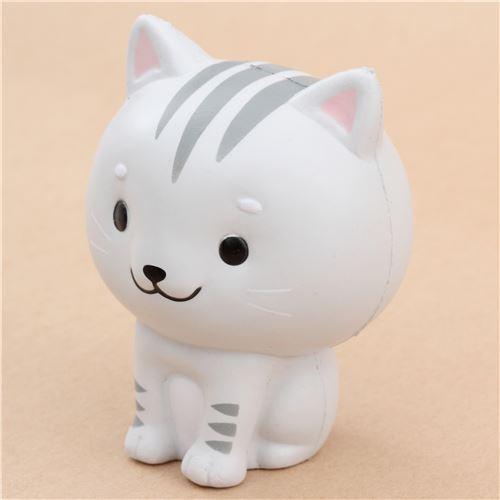 cute grey Chawa Little Mafia Lucky Cat kitty squishy kawaii - Animal Squishy - Squishies ...