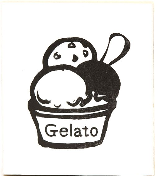 cute ice cream cup wooden stamp rubber stamp stamps