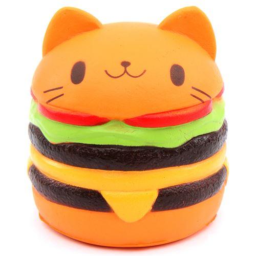 Squishy Hamburger : cute jumbo cat hamburger scented squishy cheeseburger - Food Squishy - Squishies - Kawaii Shop ...