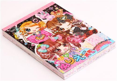 cute kawaii Anime girls Memo Pad