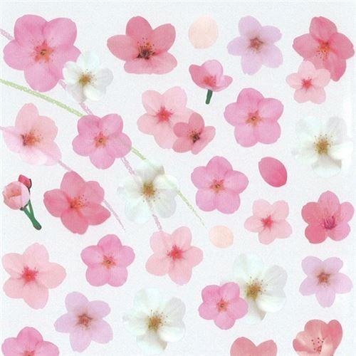 Cute kawaii pink light pink white sakura flower stickers by mind cute kawaii pink light pink white sakura flower stickers by mind wave 1 mightylinksfo