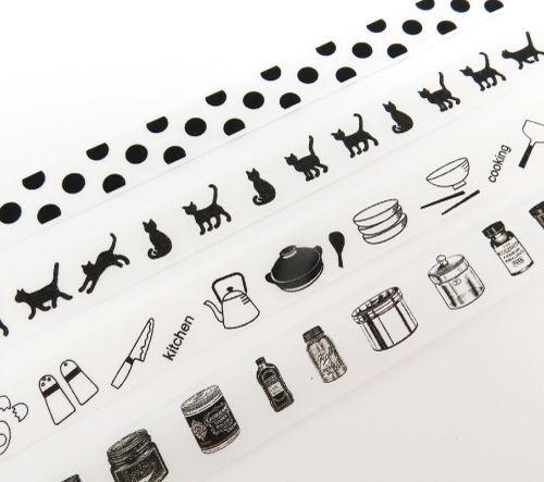 Set nastri adesivi decorativi dispenser gatti pois dal giappone set di nastri decorativi - Nastri decorativi natalizi ...