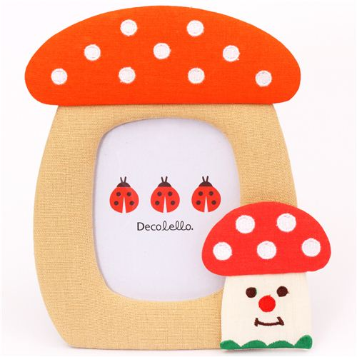 cute mushroom fabric photo frame picture frame Japan Decole - Other ...
