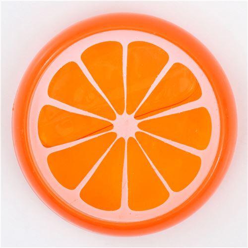 orangefarbener schleim in beh lter mit orangen form. Black Bedroom Furniture Sets. Home Design Ideas