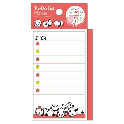 cute orange red panda note pad to do list marker from japan memo