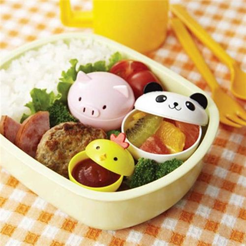 cute panda chick pig mini sauce containers for Bento Box ...