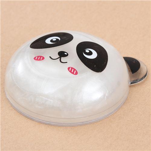 cute panda face case white metallic slime kawaii mud clay ...