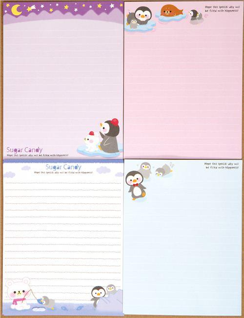 cute penguin letter set ice christmas letter sets stationery