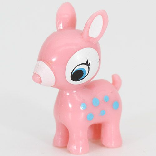 Cute Pink Bambi Deer Miniature Figure Kawaii Figurines