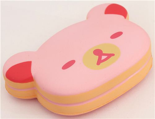 Squishy Cake Food 52 : cute pink Rilakkuma bear sponge cake squishy - Food Squishy - Squishies - Kawaii Shop modeS4u