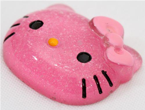 Cute Pink Glitter Hello Kitty Miniature Deco Kawaii
