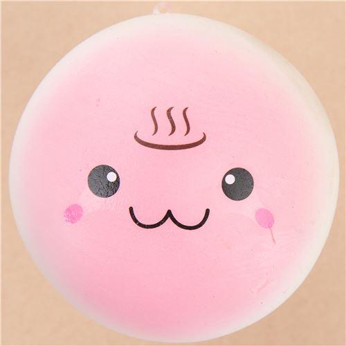 cute pink steam bun food squishy kawaii - Food Squishy - Squishies - Kawaii Shop modeS4u
