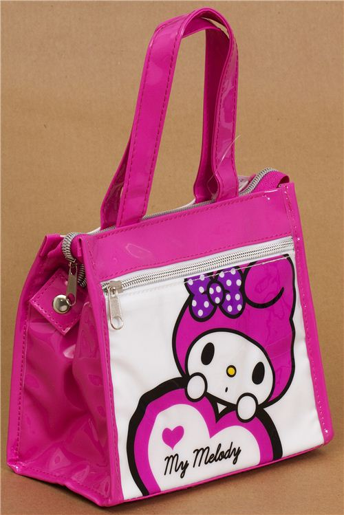 cute pink-white my melody rabbit lunch bag