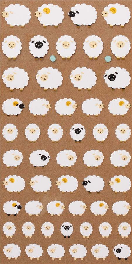 Cute Sheep Stickers From Japan Animal Stickers Sticker