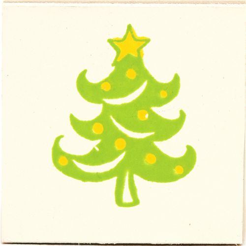 Cute Small Christmas Tree Wooden Stamp Christmas 2