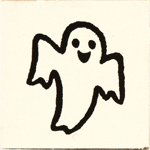 Cute Small Halloween Ghost Wooden Stamp Stamps