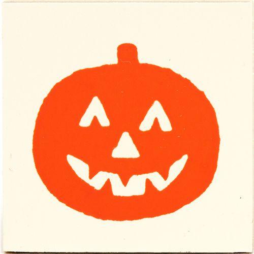 cute small halloween pumpkin wooden stamp 2
