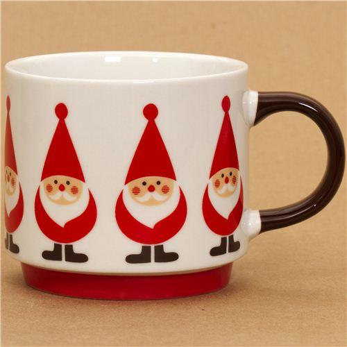 jolie petite tasse de no l avec le p re no l par decole tasses mugs bo tes bento. Black Bedroom Furniture Sets. Home Design Ideas
