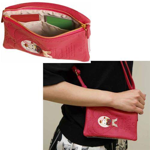 f33edf3e010 cute small red Sentimental Circus phone pouch handbag by San-X from Japan 3