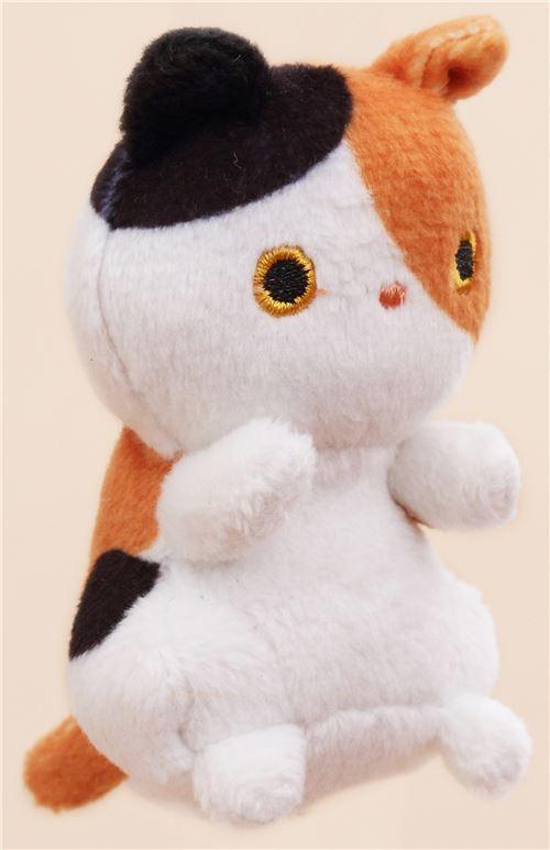 Cute Small White Brown Black Cat Animal Plush Toy Cat Plush