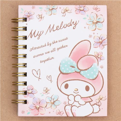 Cute Small White Light Pink Ring Binder Notebook With My