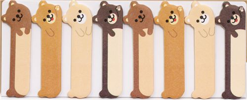 cute teddy bear bookmark stickers post it sticky notes sticker stationery kawaii shop. Black Bedroom Furniture Sets. Home Design Ideas