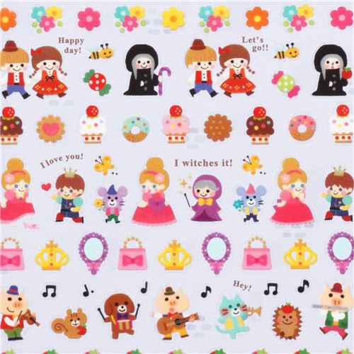 Cute Tiny Fairy Tale Stickers From Japan Snow White Witch