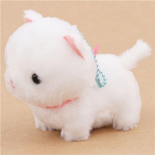 cute white cat plush toy Chinmari Munchkin from Japan ...