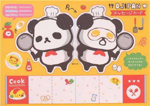 S es wei er lustiger ojipan panda kochen notizblock von q lia notizbl cke schreibwaren - Kawaii kochen ...