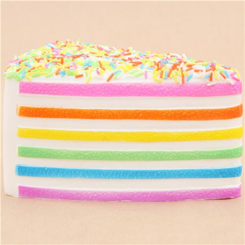 Pastel Cakes Squishy Tag : cute white rainbow cake with sprinkle squishy kawaii Squishy Factory - Food Squishy - Squishies ...