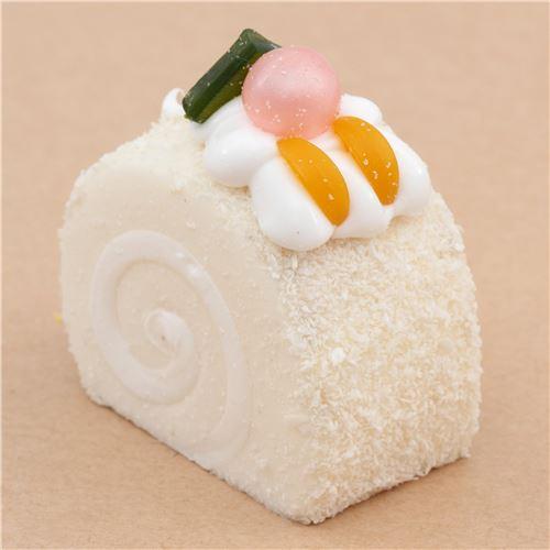 Ibloom Cake Roll Squishy : cute white roll cake with magnet squishy kawaii - Food Squishy - Squishies - Kawaii Shop modeS4u