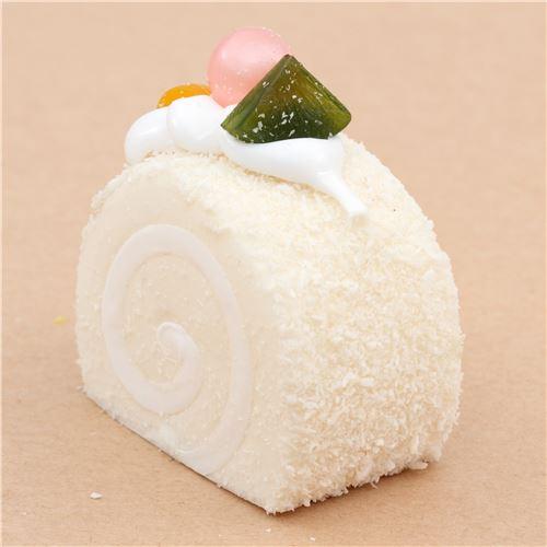 Squishy Cake Food 52 : cute white roll cake with magnet squishy kawaii - Food Squishy - Squishies - Kawaii Shop modeS4u