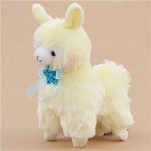 cute yellow alpacasso alpaca blue bow star plush toy from ...