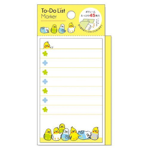 cute yellow bird note pad to do list marker from japan memo pads