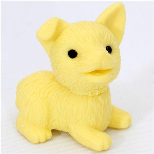 Cute Yellow Dog Eraser From Japan By Iwako
