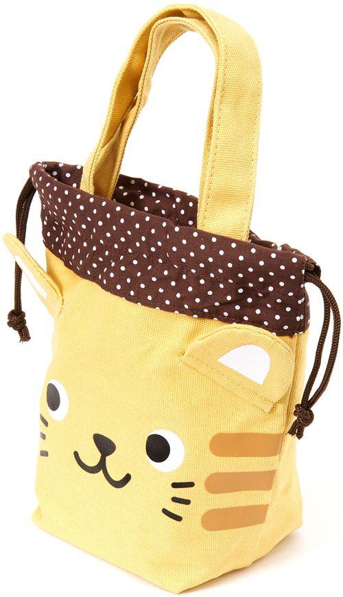Good Christmas Purses And Bags #1: Cute-yellow-linen-handbag-with-cat-face-167620-2.jpg