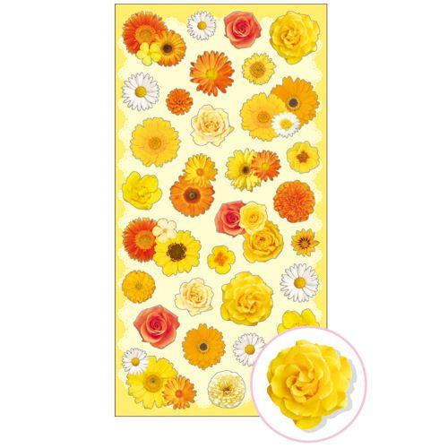 Süße gelbe orange weiße Blumen Aufkleber von Mind Wave ...