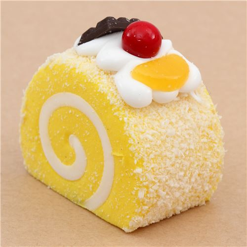Diy Squishy Cake Roll : cute yellow roll cake with magnet squishy kawaii - Food Squishy - Squishies - Kawaii Shop modeS4u