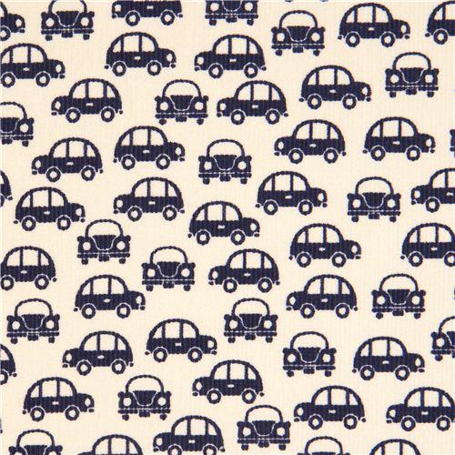 dunkelblaue Autos Stoff für Jungs von Kokka Japan - Stoffe für Jungs ...