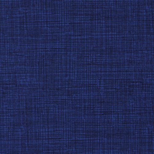 Dark Blue Navy Blue Grid Pattern Sketch Fabric Timeless