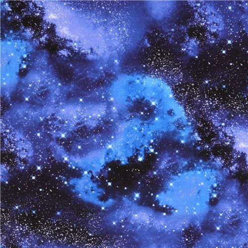 Dark blue space stars fabric by timeless treasures for Space boy fabric