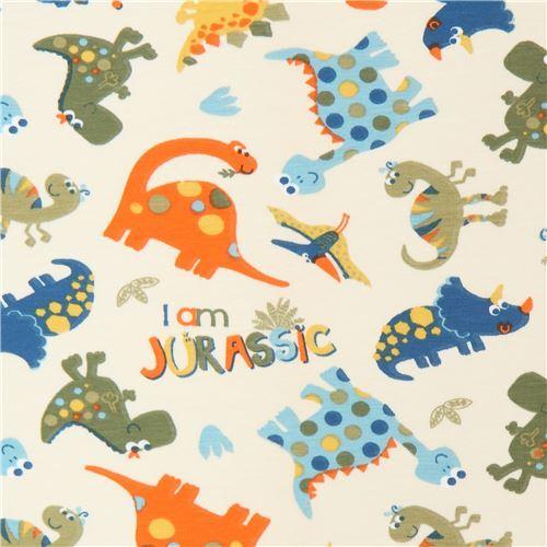 35fb44fd543 dinosaur knit fabric by Stof France - modeS4u
