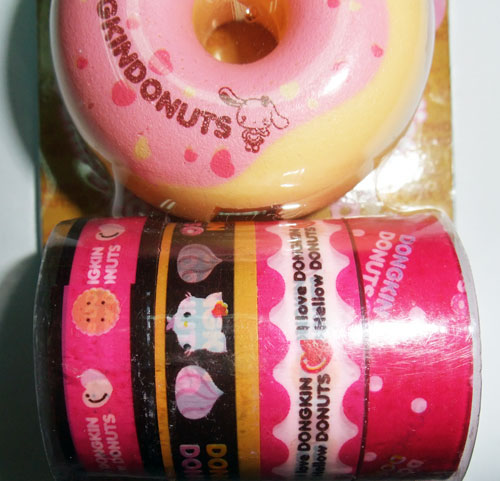 Pink donut dispenser kawaii set di nastri decorativi nastri adesivi decorativi cancelleria - Nastri decorativi natalizi ...
