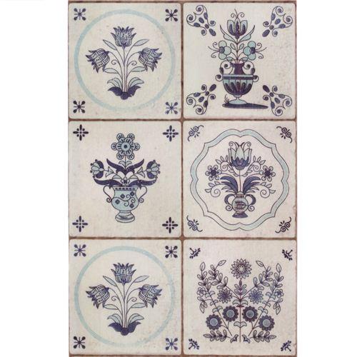 Extra Wide Grey Mt Casa Washi Tape 10cm Flower Tile Deco