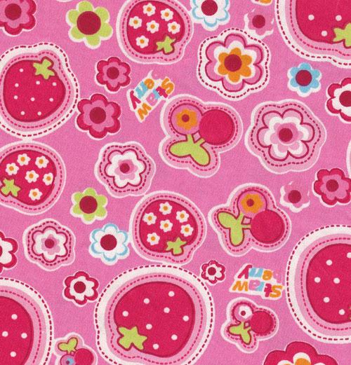 Pink kawaii fabric with strawberries and flowers 05m kawaii pink kawaii fabric with strawberries and flowers 05m kawaii fabric fabric kawaii shop modes4u mightylinksfo