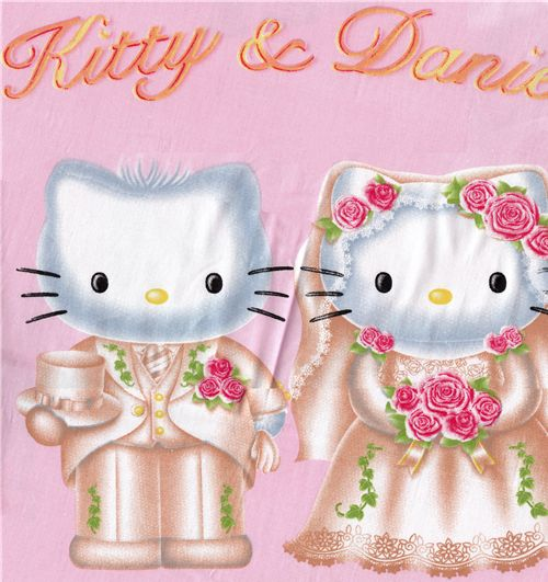 Stoff Kawaii Fabric Cute Hello Kitty Hochzeit Wedding