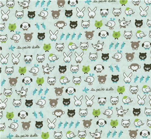 Kawaii animal kids fabric panda frog kawaii fabric for Kids apparel fabric