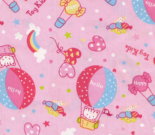 rosa kawaii stoff mit katze und ballon 1m kawaii stoffe stoffe kawaii shop modes4u. Black Bedroom Furniture Sets. Home Design Ideas